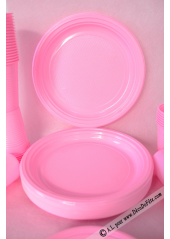 30 Assiettes rondes pepsy ROSE