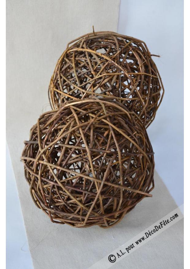 1 boule rotin geante 25cm. Black Bedroom Furniture Sets. Home Design Ideas