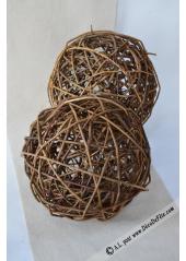 1 boule Rotin GEANTE 25cm