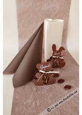 10M Chemin de table REFLET chocolat