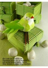 6 boites à secret vert anis