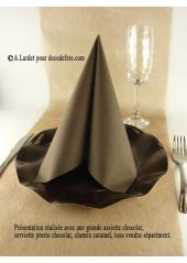 10 Assiettes fleur chocolat