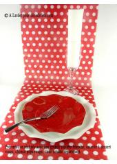 10 Assiettes à dessert fleur rouge