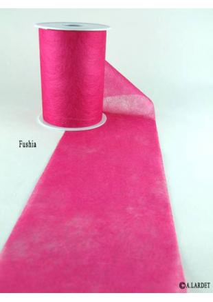 20m superposition bandeau fushia chemin de table rose fushia - Chemin de table fushia ...