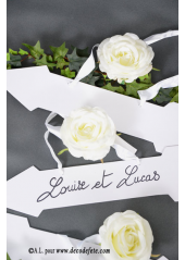 1 pancarte flèche blanc
