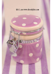 1 petit bocal peps lilas