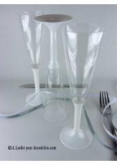 10 Flutes à champagne blanc
