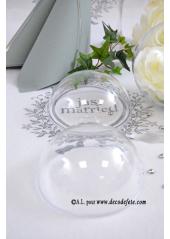 1 Boule transparente 12cm
