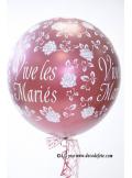 1 ballon GEANT 90cm Vive les Mariés bordeaux