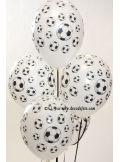 8 ballons Football blanc