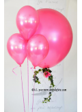6 ballons fushia nacré