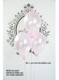 6 ballons rose nacré