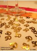 Confettis métal noces d'or 50 ans