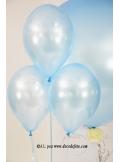 6 ballons bleu ciel nacré