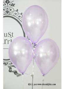 6 ballons lilas nacré