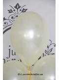 8 ballons ivoire nacré
