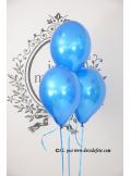 6 ballons bleu roi nacrés
