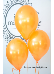 6 ballons orange nacré