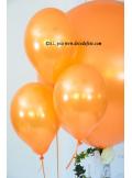 6 ballons orange nacré