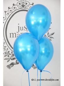 8 ballons bleu turquoise