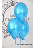 6 ballons bleu turquoise