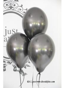 8 ballons noir nacré