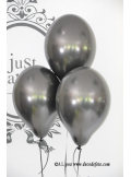 6 ballons noir nacré