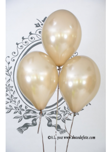 6 ballons caramel (taupe) nacré