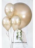 8 ballons caramel (taupe) nacré