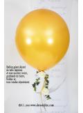 1 ballon GEANT 90cm or nacré