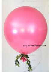 1 ballon GEANT 90cm fushia nacré