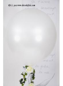1 ballon GEANT 90cm blanc