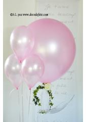 1 ballon GEANT 90cm rose nacré
