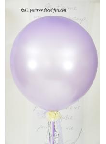 1 ballon GEANT 90cm lavande