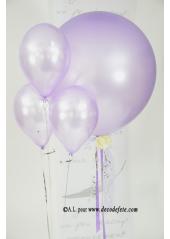 1 ballon GEANT 90cm lavande nacré