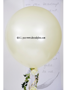 1 ballon GEANT 90cm ivoire