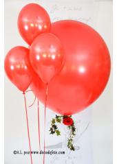 1 ballon GEANT 90cm rouge nacré