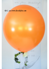 1 ballon GEANT 90cm orange nacré