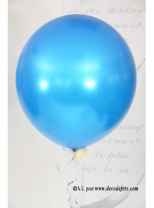 1 ballon GEANT 90cm turquoise nacré