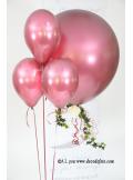 1 ballon GEANT 90cm bordeaux nacré