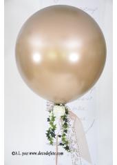 1 ballon GEANT 90cm caramel (taupe) nacré
