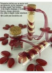 500gr Dragées chocolat 73% de cacao bordeaux