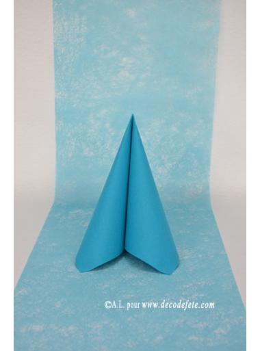 10M Chemin de table FIBRE turquoise