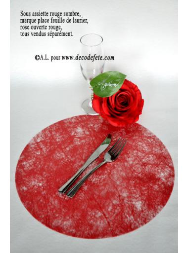 10 Sous assiettes FIBRE rouge