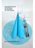 10 Sous assiettes FIBRE turquoise