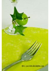 10 Sous assiettes FIBRE vert anis