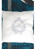 1 Coussin Just Married blanc