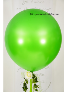 1 ballon GEANT 90cm vert lime nacré