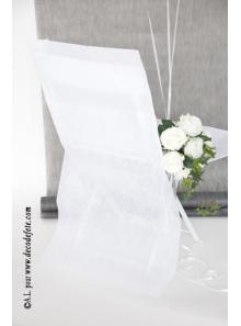 6 Housses de chaise blanc