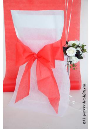 6 noeuds rouge pour housse de chaise. Black Bedroom Furniture Sets. Home Design Ideas